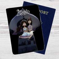 Aladdin and Jasmine Tim Burton Custom Leather Passport Wallet Case Cover