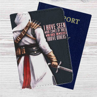 Assassin's Creed Altair Quotes Custom Leather Passport Wallet Case Cover