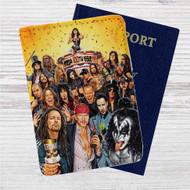 Axl Rose, Ozzy Osbourne, James Hetfield, Gene Simmons All Rocker Custom Leather Passport Wallet Case Cover