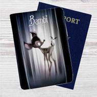 Bambi Tim Burton Custom Leather Passport Wallet Case Cover