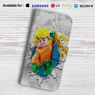Aquaman Lego Custom Leather Wallet iPhone 4/4S 5S/C 6/6S Plus 7| Samsung Galaxy S4 S5 S6 S7 Note 3 4 5| LG G2 G3 G4| Motorola Moto X X2 Nexus 6| Sony Z3 Z4 Mini| HTC ONE X M7 M8 M9 Case