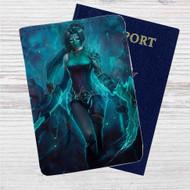 Akali League of Legends Custom Leather Passport Wallet Case Cover
