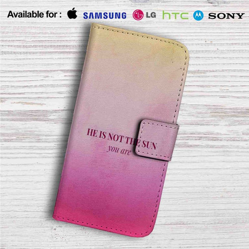 He is Not The Sun Grey\'s Anatomy Custom Leather Wallet iPhone 4/4S ...