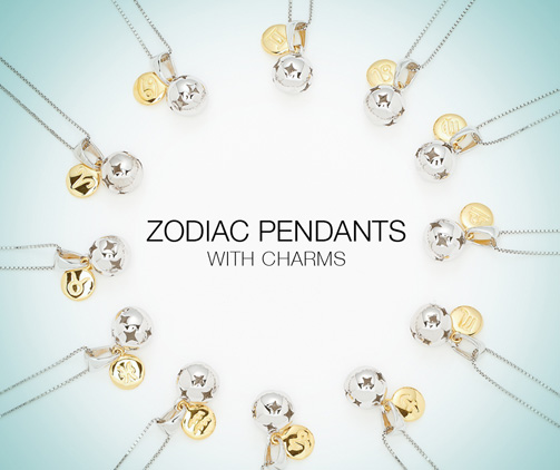 Zodiac Pendants with charms