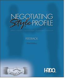 Negotiating Style Profile Feedback Form