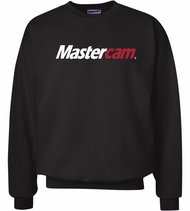 Men's Supersoft Black Crew Sweatshirt