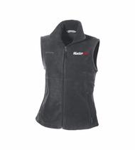 Columbia® Ladies' Fern Creek Full-Zip Charcoal Grey Fleece Vest