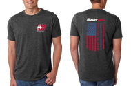 Mastercam® American Flag Grey T-Shirt