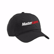 Mastercam® Cotton Twill Baseball Cap in Black