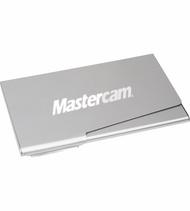 Aluminum Business Card Holder with Laser Engraved Mastercam logo