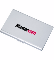 Aluminum Business Card Holder with 2 Color Mastercam® Logo