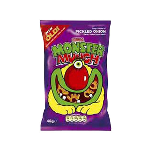 Monster Munch Pickled Onion Crisps (Case of 30 single-serving bags)