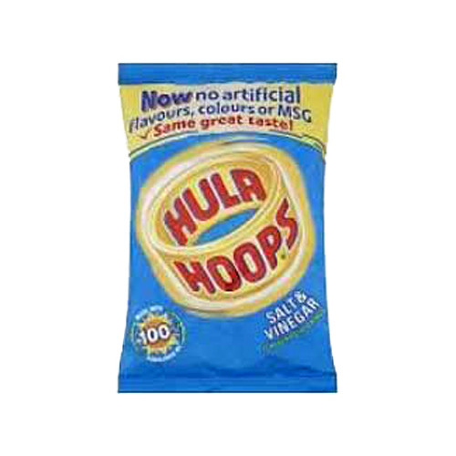 KP Hula Hoops - Salt & Vinegar (Case of 48 single-serving bags)