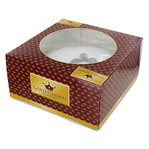 Gold Crown  Iced Christmas Cake (681g / 1.5lb)