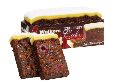 Walkers Iced Rich Fruit Cake (450g / 15.87oz)