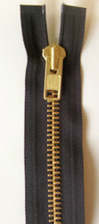 #10MGM Brass Chap Zipper