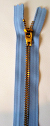 #4.5G Brass Pants Zipper-9""