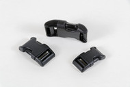 Contoured Plastic Side Release Buckle, Black