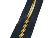 #10MGM YKK ® Brass Tooth Zipper Chain, Black (91100BBK)