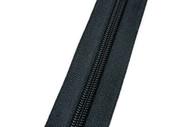 #8CF YKK® Nylon Self-Correcting Coil Zipper Chain, Black (91080CBK)