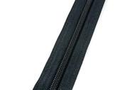 #5CI YKK® Nylon Self-Correcting Coil Zipper Chain, Black (91050CBK)