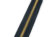 #5MGM YKK® Brass Tooth Zipper Chain, Black