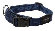 Rogz Alpinist Large 20mm K2 Dog Collar, Blue Rogz Design(HB25-B)
