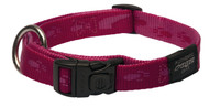 Rogz Alpinist Large 20mm K2 Dog Collar, Pink Rogz Design(HB25-K)