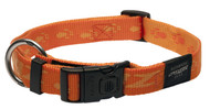 Rogz Alpinist Extra Large 25mm Everest Dog Collar, Orange Rogz Design(HB27-D)
