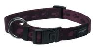 Rogz Alpinist Extra Large 25mm Everest Dog Collar, Purple Rogz Design(HB27-E)
