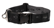 Rogz Alpinist Extra Extra Large 40mm Big Foot Dog Collar, Black Rogz Design(HB29-A)