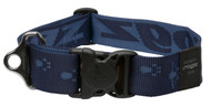 Rogz Alpinist Extra Extra Large 40mm Big Foot Dog Collar, Blue Rogz Design(HB29-B)