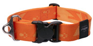 Rogz Alpinist Extra Extra Large 40mm Big Foot Dog Collar, Orange Rogz Design(HB29-D)