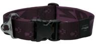 Rogz Alpinist Extra Extra Large 40mm Big Foot Dog Collar, Purple Rogz Design(HB29-E)