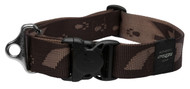 Rogz Alpinist Extra Extra Large 40mm Big Foot Dog Collar, Chocolate Rogz Design(HB29-J)