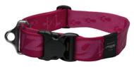 Rogz Alpinist Extra Extra Large 40mm Big Foot Dog Collar, Pink Rogz Design(HB29-K)