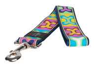 Rogz Fancy Dress Extra Extra Large 40mm Special Agent Fixed Dog Lead, Pop Art Design(HL04-BW)