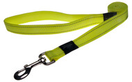 Rogz Utility Large 20mm Fanbelt Fixed Dog Lead, Dayglo Yellow Reflective(HL06-H)
