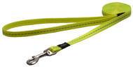 Rogz Utility Small 11mm Nitelife Fixed Dog Lead, Dayglo Yellow Reflective(HL14-H)