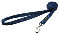 Rogz Alpinist Medium 16mm Matterhorn Fixed Dog Lead, Blue Rogz Design(HL23-B)