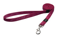 Rogz Alpinist Medium 16mm Matterhorn Fixed Dog Lead, Pink Rogz Design(HL23-K)