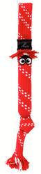 Rogz Scrubz Teeth Cleaning Dog Toy, Red
