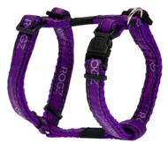Rogz Fancy Dress Medium 16mm Scooter Dog H-Harness, Purple Chrome Design