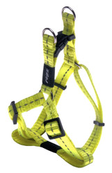 Rogz Utility Small 11mm Nitelife Step-in Dog Harness, Dayglo Yellow Reflective