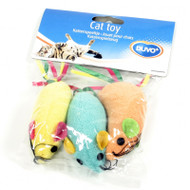 Duvo Cat Toy Terry Mouse 3pk
