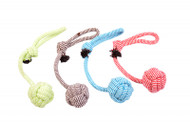 Duvo Dog Toy Scooby Rope Ball with Loop