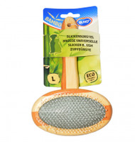 duvo bamboo slicker brush lrg