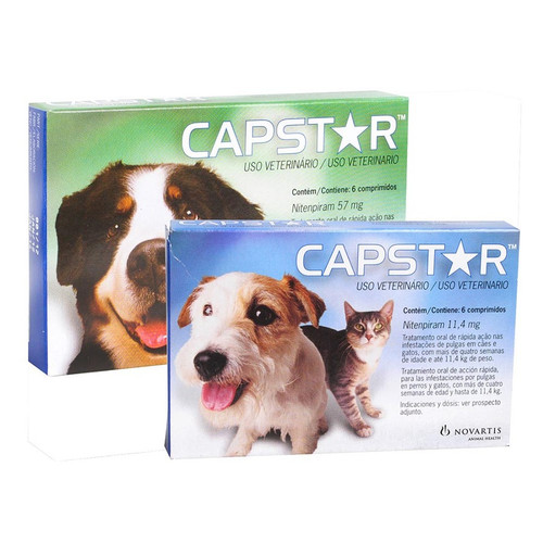 Capstar® is an oral tablet that contains a fast-acting adulticide for the control of adult fleas on dogs and cats.