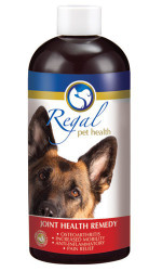 Regal's Joint Health Remedy, with a delicious artificial beef flavour, has been specifically formulated for dogs using a combination of nutritional and herbal ingredients known for improving and protecting the health of their joints. As an anti-inflammatory assisting in joint regeneration, this remedy will address symptoms of osteoarthritis in all breeds including degenerative joint disease and developmental joints problems such as hip dysplasia. For reduced inflammation, effective pain relief and increased mobility while strengthening the muscular skeletal system and supporting immune health. Here's to freedom of movement for your very best friend!