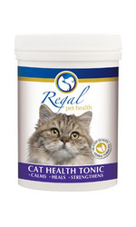 Regal Cat Health Tonic has been formulated using Dr. Schüssler's Biochemic Tissue Salts to assist with keeping your feline in good health – to calm, heal and strengthen. Using Dr. Schüssler's principles that tissue salts can help to promote balance within the body and thereby ill health, this tonic will assist with the following:   * Allergies  * Circulation  * Digestion  * Immunity  * Joint health  * Nervous system  * Respiratory health  * Skin and coat health  * Urinary tract health If your cat is prone to suffering from ongoing health problems or if you simply want to add extra support to his / her daily care regime, this tonic will offer added benefits naturally and safely